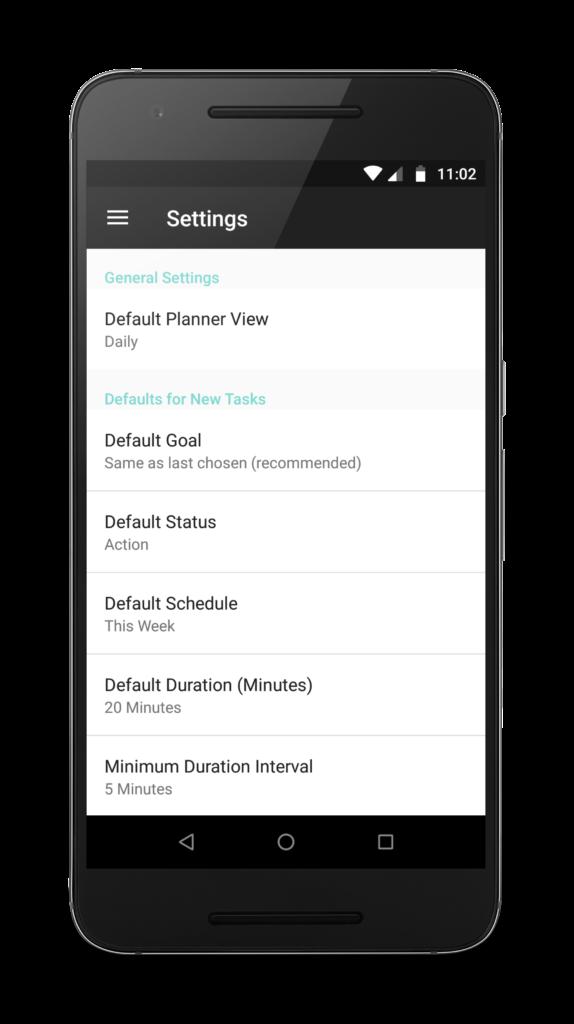 App Settings Screenshot